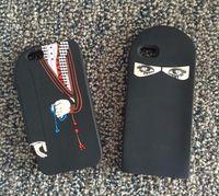 Wholesale Iphone Couple Cover - 2017 Arabic Cloth Muslim Dubai Lovers Girl Big Eye Design Silicon Cover For iPhone 5 5s se 6 6s 6plus 7 7Plus Couple