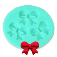 Wholesale Silicone Cake Mould Set - Wholesale- 3D Bow Fondant Chocolate Mould Candy Cake Soap Mold Cake Decorating Baking Tool #40935