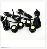 Vente en gros 23MM High Power White 3W LED Eagle Eye Under Car body Lamp DRL Fog Light Motorcycle