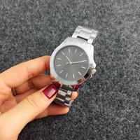 ingrosso orologio da polso al quarzo-Orologi classici di alta qualità di disegno semplice dell'orologio della signora di lusso dell'orologio dell'acciaio inossidabile dell'orologio del quarzo delle donne all'ingrosso Trasporto libero