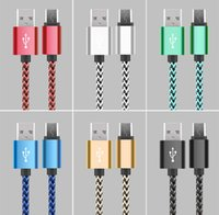 Wholesale Colorful Iphone Charging Cable - Mirco USB Cable braided V8 Charging Type C Data Sync 3FT 6FT Colorful For Samsung Galaxy S8 S7 Macbook 12 Inch No Package