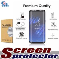 Wholesale Used Edge - For Samsung Galaxy S8 S8 Plus S9 s7 edge Cases Friendly Small Type 3D Curved Tempered Glass Note 8 Screen Protector Using With Any Cases