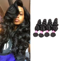 2017 Summer 8A Brazilian Loose Hair 4pcs / lot Loose Remi Human Hair Weave Exemption de l'affranchissement;