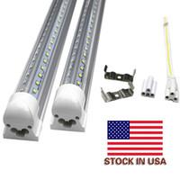 Wholesale Fluorescent Work Lamps - T8 LED Bulbs 36W 48W 56W Cold White V Shape 8ft LED 4ft 5ft 6ft 8 feet Work Light 72W Fluorescent Tube Lamp