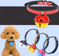 PU Small Cute Dog Cat Collier de mode avec Bell Cheap Fashion Safety Pet Collier en gros 5 Color Mix Order 20PCS / LOT