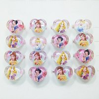 Wholesale Cute Girl China - Free Shipping Wholesale lots 20Pcs Girl child's gifts lovely cute Snow White Princess Heart rings fashion Jewelry Jewellery