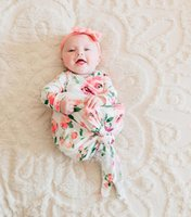 Wholesale floral photographs - 2018 new brand baby floral sleeping bag for photograph newborn baby hospital mermaid shape wrap swaddle