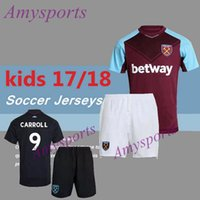 Wholesale Noble Set - 2017 2018 kids West Ham United soccer jersey youth kits set 17 18 LANZINI CARROLL PAYET NOBLE home away football shirt