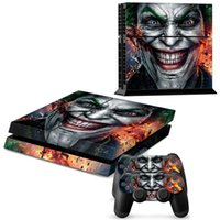 Wholesale Pattern Controller - Wholesale Skin Joker Vinyl Decal Cover for Sony Playstation 4 PS4Console and 2 Controllers-Horrible Smile pattern