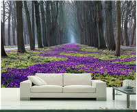 Wholesale Parks Painting - 3d room wallpaper custom photo mural spring trees and flowers of the park picture decor painting 3d wall murals wallpaper for walls 3 d