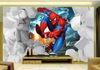 nuevos fondos de pantalla de fondo al por mayor-Nueva Custom 3D hermosa habitación de los niños dinámicos TV mural mural papel tapiz 3d Papeles de pared 3d para el telón de fondo de la televisión