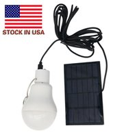 US-STOCK! Indoor-Outdoor-Solar-Panel-Licht Solar Powered Led Birne Licht Nützliche Energie Camping Licht