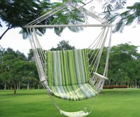 Wholesale Garden Hammock Chairs - Green Leisure Swing Hammock Hanging Outdoor Chair Garden Patio Yard Max 260Lbs