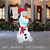 Wholesale Cheap Small Inflatables - cheap small Inflatable Frozen Olaf with Scarf and Candy Cane