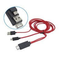 Wholesale S3 Mini Price - 6FT MHL Smart HDTV Adapter Mini Micro USB to HDMI Red Cables for Samsung Galaxy S3 S4 Note 2 3 I9500 I9300 N7100 the Best Price