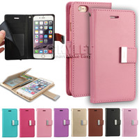 Wholesale Diary Case For Iphone - For Galaxy S8 Case Mercury Rich Diary LG K20 Plus V5 Iphone 7 Case Wallet PU Leather Case TPU Cover With Card Slot Side Pocket OPP Bag