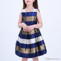 Wholesale birthday party dress child baby photo resale online - New Kids Dresses For Girl Summer Sleeveless Tulle Print Baby Girls Clothes Princess Party Wedding Dress Children Clothing Free Shiping