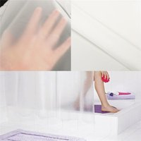 Wholesale Shower Curtains Clear - Wholesale- Useful 178x180cm Thin and Light Smooth Translucence Waterproof Mildewproof Clear Shower Curtain Liner PEVA Home Bathroom Product