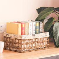 Wholesale Decorative Wood Storage Boxes - 3pcs Handmade Rope Weaving Storage Basket Books Crafts Cosmetic Box Household Desktop Sundries Furnishing Decorative Basket Organizer