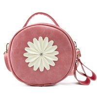 Wholesale Fashion Handbags Flowers - 2017 Fashion handbags daisy flowers cosmetic bag women zipper multi - functional shoulder bag Coin Purse cosmetic bag