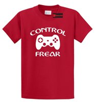 Wholesale funniest videos - Control Freak Funny Gamer T Shirt Video Games Boyfriend Gift Tee S-5XL Base Shirt