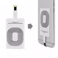 qi şarj evrensel alıcı toptan satış-Evrensel Qi Kablosuz Şarj Alıcı Şarj Adaptörü Reseptör Alıcı Pad Bobin cep telefonu akıllı telefon için