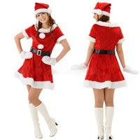 Wholesale Sexy Cosplay Babes - Christmas Costume Sexy Lady Cosplay For Women Christmas Miss Santa Babe Ladies Fancy Women's One-Piece Dress Xmas Party Costume Red