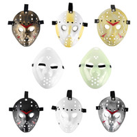 Wholesale Mens Cosplay - Full Face mask cosplay masks mini masquerade masks black for mens Freddy VS 13th Prop Horror Hockey Jason Mask anonymous adult plastic mask