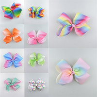 Wholesale Trade Hair Clips - Rainbow change colour change the thread of the hair of a large bow hairpin in foreign trade children's hair accessories bubble bows CA337