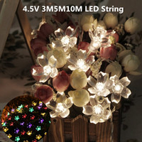 ingrosso alberi di natale all'aperto a batteria-All'ingrosso-Led String Battery Lighting Holiday Christmas 4.5V 3M5M10M FairyLights Flower Blossom Decorativo Outdoor Tree Party
