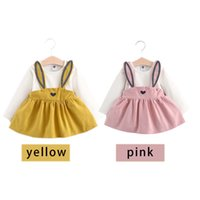 Wholesale Best Baby Bags - Fake Two-piece Long-sleeved Dress Children's Dress Baby Party Dress Through PP Bag with the Best Quality and Price 2101188