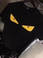 Wholesale Eyes Print Cotton - Summer new fashion style,the yellow eyes tshirts,hip hop t-shirt,black s-xl