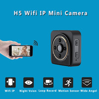Wholesale Ip Motion Sensor Camera - H5 Mini Camera Wifi IP 720P HD Mini Camera Wireless P2P Body Night Vision Mini DV Camera Motion Sensor Micro Video Cam