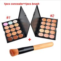 Wholesale Professional Colors Concealer with Brush Set Foundation Contour Face Cream Makeup Palette Pro Tool for Salon Party Wedding Daily