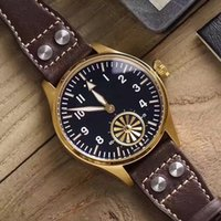 Wholesale Mechanical Pilot - Top factory, the most beautiful pilot series in history, the perfect turbine design at 6 o'clock, classic reproduction!