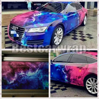 Wholesale vinyl car sticker printing online - 2017 New Galaxy Printed Vinyl Car Wrap Film With Air Free wrap Stickerbomb Car Styling Union graphics Size x10M M M