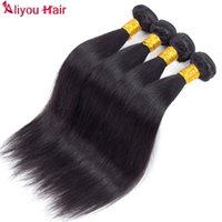 Wholesale Cheap Items Sell - High Quality Brazilian Straight Human Hair Weave Bundles 4pcs Soft Tangle Free Remy Cheap Hair Extensions Daily Deals Hot Selling Items