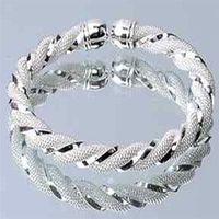 kızlar için 925 gümüş bilezikler toptan satış-Toptan-Vintage Bileklik 925 Ayar Gümüş Gümüş Bileklik Maç için Hediye kadın Bilezik Yeni Tasarım Kızlar Takı Sıcak 1 ADET