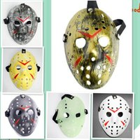 Wholesale Jason Face - Halloween cosplay costume Porous Mask Jason Voorhees Friday The 13th Horror Movie Hockey Full Face Mask c121