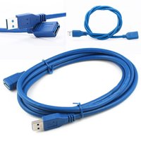 Wholesale Data Cable New Ipad - New 1.8M 6FT USB 3.0 Male to Female Extension Data Cord Cable 5Gbps Super Speed 1.8m