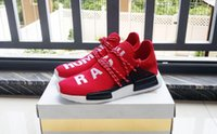 Wholesale Cheap Rubber Flooring Wholesale - 2017 Cheap New Arrivals nmd red NMD Human Race Runner sports Running Shoes Human Race sneakers red running shoes for women EUR 36-44