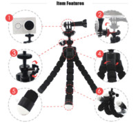 Wholesale Gopro Adapters - Vamson for GoPro Accessories Mini Tripod Flexible Leg With Screw Mount Adapter For GoPro Hero 5 4 3+Xiaomi yi SJ Camera VP414C
