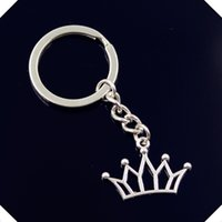 nuovo-fashion-men-30mm-keychain-DIY-metallo-titolare-catena-vintage-hollow-crown-20-30mm-antica-argento