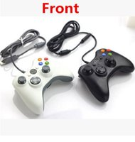 Wholesale Official Microsoft Controller - USB Wired Joypad Gamepad Black Controller For Xbox 360 Joystick For Official Microsoft PC for Windows 7   8   10