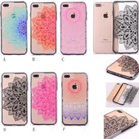 Wholesale Blue Floral Iphone Cases - Sexy Beautiful Datura Floral Phone Cases For iphone 6 6Plus 7 7Plus Case Palace Flower Back Cover Shells Two Piece Part
