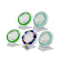 brazaletes de acrílico transparente al por mayor-Comercio al por mayor 5 Unids Clear Jewelry Pulsera Display Holder Brazalete Organizador Rack de Acrílico Pulsera de Exhibición de Cadena Holder Holder
