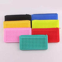 Wholesale silicone jelly candy bags resale online - 100pcs cm Colorful Silicone Jelly Candy color Dot Coin Purse Lovely Card bag Silicone Money Purse Pouch Wallet