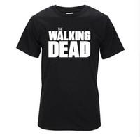 Wholesale Shorts Casual Walk Men S - Top Quality men t-shirt short sleeve Tshirt print casual tee shirt men twd the walking dead print T shirt T01
