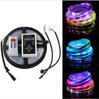 Wholesale Magic Power Supplies - Christmas LED Strip light 5m 5050 digital RGB 150LED IP67 tube waterproof dream magic color 12V Led Strip 30LED m+Remote +Power supply