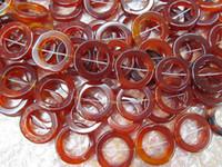 cuentas violetas al por mayor-Hanmade onyx beads piedras preciosas de ágata Round Circle Donut verde amarillo rojo negro violeta púrpura ónix colgante cuentas 30-50mm filamento completo